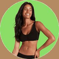 Woman wearing Boody shaper bra