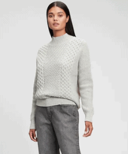 Chunky grey Gap sweater