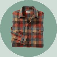 L.L Bean plaid flannel shirt