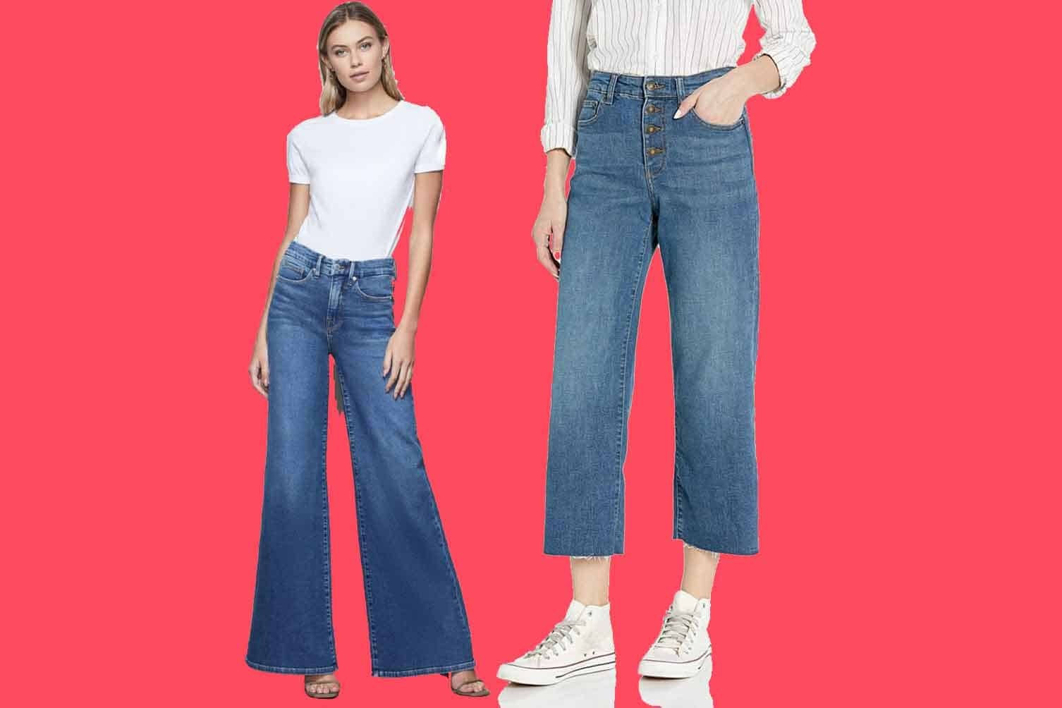 The Cutest and Most Comfy Women's Wide Leg Jeans