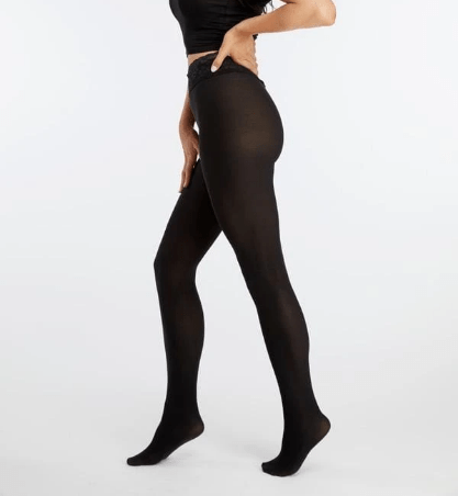 Hipstiks Black Opaque Tights With Comfortable Low Rise Luxe Waistband