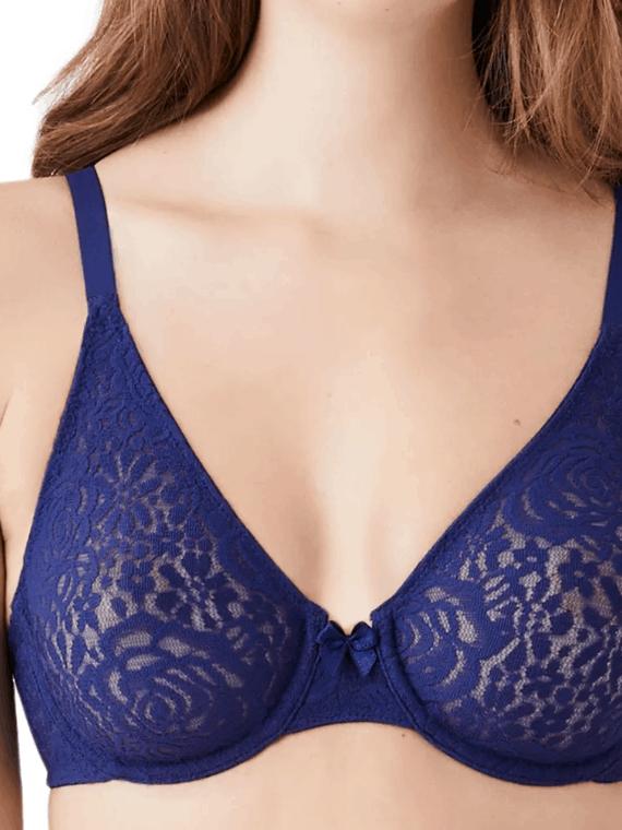 Stretchy lace underwire bra
