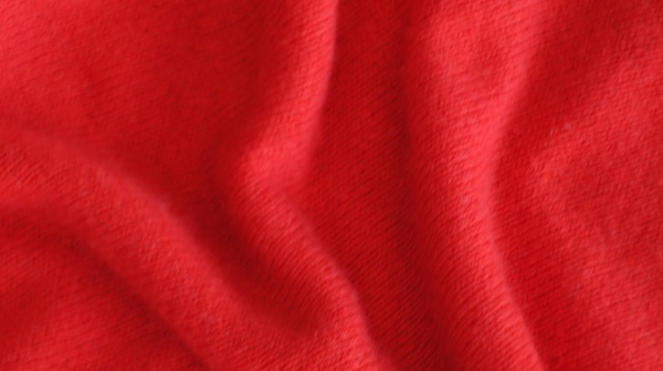 Close up of red cashmere sweater