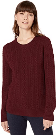 Amazon Essentials Women's Fisherman Cable Crewneck Sweater