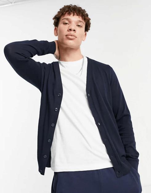 ASOS Design Cotton Cardigan