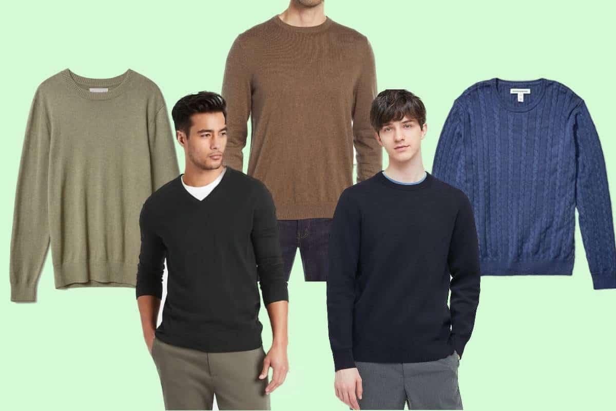 Five examples of the best men's lightweight sweaters