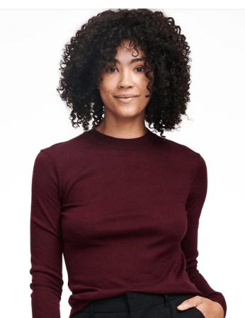 Naadam Lightweight Mockneck Sweater