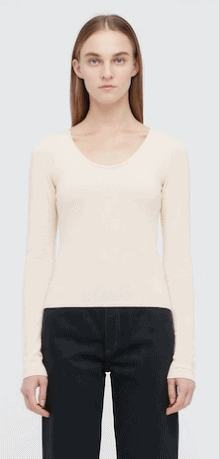 Uniqlo Women U 3d High Twisted Crew Neck Long-sleeve Sweater