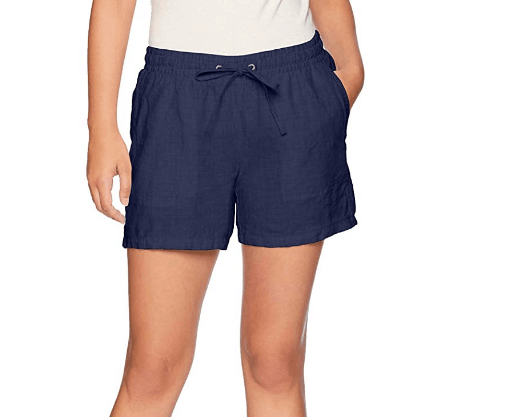 "Amazon Essentials Women's 5"" Drawstring Solid Linen Short"