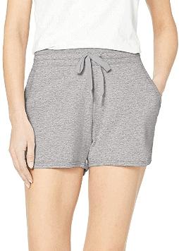Amazon Essentials Women's Studio Terry Dolphin Short in gray