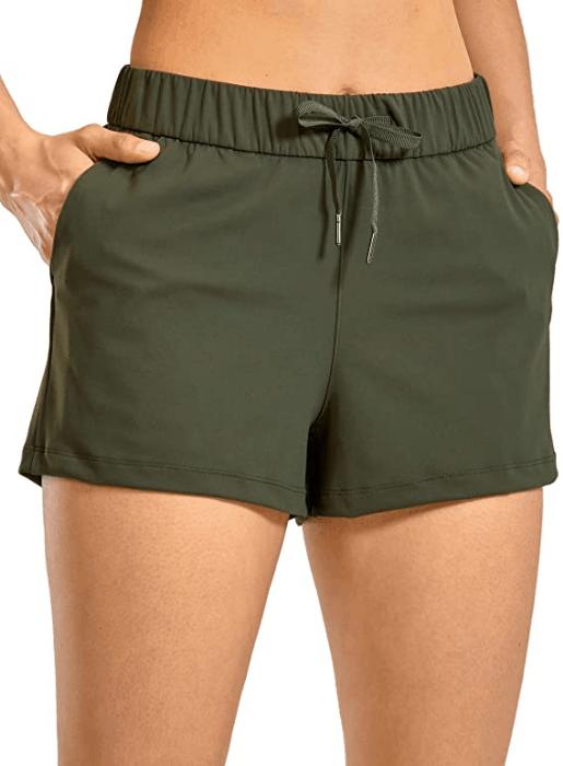 CRZ yogo short in army green
