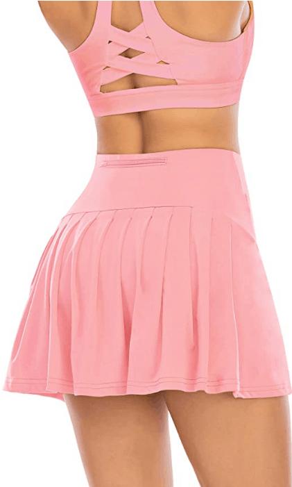 Pink Werena skort and bra