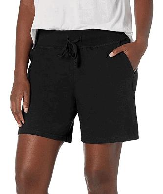 Hanes jersey shorts in black